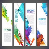 Abstrakte Designfahnen vector Schablonendesign, Broschüre, Element, Seite, Broschüre, mit bunten geometrischen dreieckigen Hintergründen