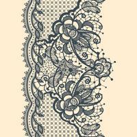 Spitzenband vertikales nahtloses Muster vektor