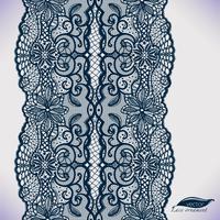 Sömlös spets prydnad. Mallram design. Lace Doily. Kan användas för förpackningar, inbjudningar vektor