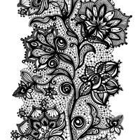 Abstraktes Spitze-Band-nahtloses Muster. Vektor-Illustration, Vorlage