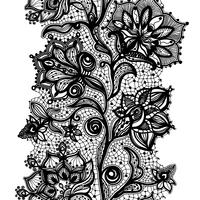 Abstraktes Spitze-Band-nahtloses Muster. Vektor-Illustration, Vorlage vektor