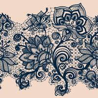 Abstrakt Lace Ribbon Seamless Pattern. Mallramdesign för kort. vektor