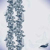 Abstraktes nahtloses Spitzemuster mit Blumen und Schmetterlingen.