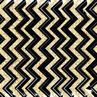 Sömlösa mönster med blå, svart, guld, zigzag linjer och punkter, randiga, presentförpackningar och prickar. vektor