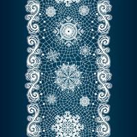 Abstrakt spets bild. Vintermönster med snöflingor