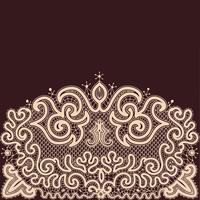 Abstraktes Spitze-Band-nahtloses Muster