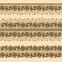 spetsremsor för dekoration och design. Tempelramsdesign för kort.