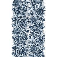 Nahtloses Muster des abstrakten Spitzebandes mit Elementblumen. Schablonenrahmendesign für Karte. Spitzendeckchen.