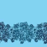 Nahtloses Blumenmuster des abstrakten Spitzebandes.