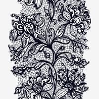Abstraktes Spitze-Band-nahtloses Muster. Schablonenrahmendesign für Karte. Spitzendeckchen