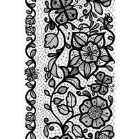 Abstraktes nahtloses Spitzemuster mit Blumen und Schmetterlingen. Unendlich Tapete, Dekoration für Ihr Design, Dessous und Schmuck. vektor