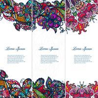 Vintage färg spets blommig uppsättning av banderoller för dina mönster.