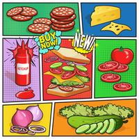 Sandwich-Werbungs-Comic-Seite