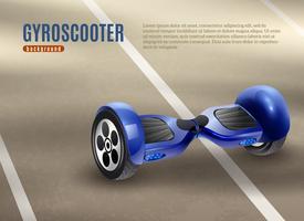 Gyro-Roller Segway Road Hintergrund Poster vektor
