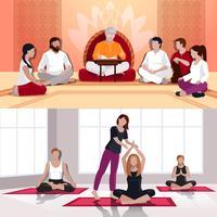 Flache Kompositionen für Yoga und spirituelle Lektionen