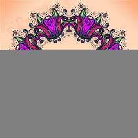 Abstraktes Farbkreisspitzen-Bandmuster mit Text für Ihre Glückwünsche. Die Spitze für die Dekoration. Thema, Feiertage. vektor