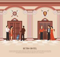 Retro Hotell Hiss Bakgrund