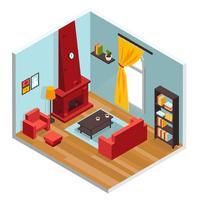 Wohnzimmer Inerior Konzept vektor