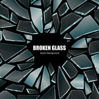 Broken Black Glass Background Poster