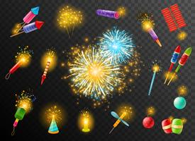 Firework Crackers Pyrotechnic Mörk bakgrundsaffisch vektor