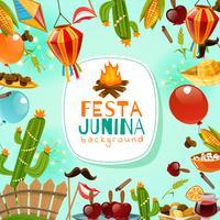 Festa Junina Frame Hintergrund vektor