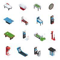 bordspel spelmaskin ikonuppsättning vektor