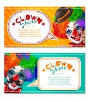 Circus Clown Show 2 Horisontella Banderoller vektor