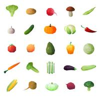 Gemüse-Reife Früchte eingestellt vektor