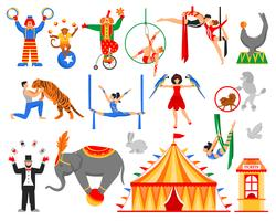 Zirkus-Künstler-Charaktersammlung vektor