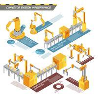 Fördersystem Isometrische Infografiken