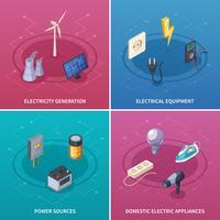 Strom-Konzept-Icons Set vektor