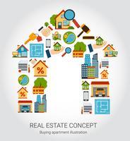 Fastighets koncept vektor