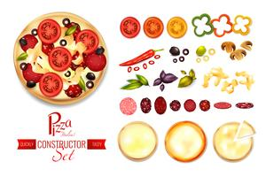 pizzapåfyllningskonstruktöruppsättning