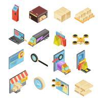 Internetbutik Isometrisk uppsättning
