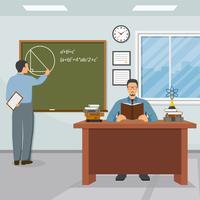 Wissenschaft und Bildung Illustration