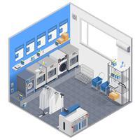 Isometrisches Konzept der Wäscherei