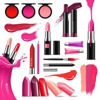 Lippen Makeup Color Realistische Kollektion