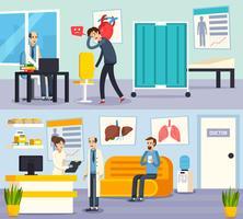 platta kompositioner av manliga läkare