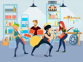 Zusammensetzung junger Musiker