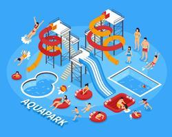 Wasserpark-Illustration vektor
