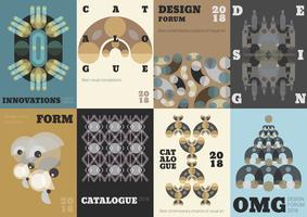 kreativa design händelse banners vektor