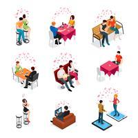 Dating isolerade isometriska ikoner