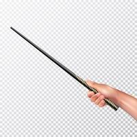 Realistiskt hand med magisk vägg vektor