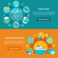 floder fiske banners set