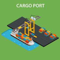 Frachthafen isometrisch vektor