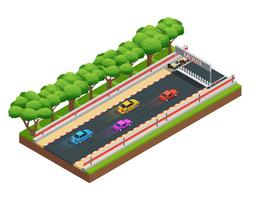 Gaming Speedway isometrisk komposition