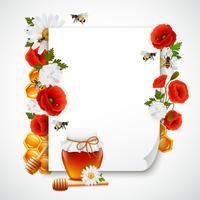 Zusammensetzung aus Papier und Honig vektor