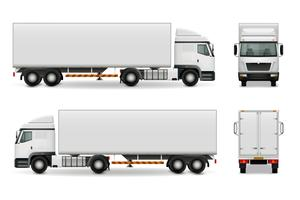 Realistische Heavy Truck Werbung Mockup