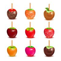 toffee godis äpplen sortiment uppsättning