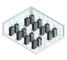 datacenter serverrum interiör vektor